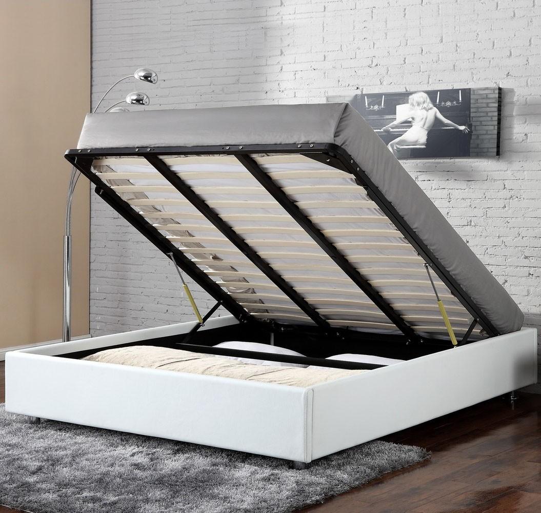 lit coffre clever blanc housse de couette zipp e mawira. Black Bedroom Furniture Sets. Home Design Ideas