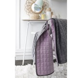 Courtepointe Marquise poudre lilas / orage 125x150 cm