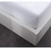 Protège matelas en coton flanelle - 160x200 cm - Promat